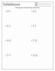 addition and subtraction of similar fractions worksheets for grade 4 9823 adding and subtracting fractions worksheet by themathresource tpt