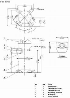 compressor hermetic scroll c sbp160h38b panasonic