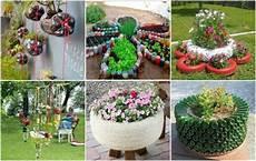 Garten Projekte Aus Alten Reifen Und Plastikflaschen