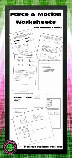 science worksheets on and motion 12334 and motion worksheet avec images