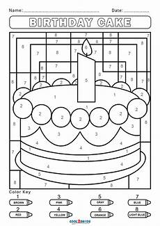 birthday color by number worksheet 16090 free color by number worksheets cool2bkids