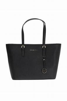 michael kors jet set travel shopper bag in black lyst
