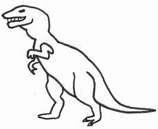 Einfache Malvorlage Dinosaurier Dinosaurier Ausmalbild Malbild Tyrannoraurus
