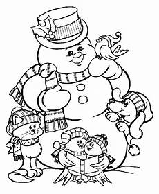 snowman coloring pages for to print color