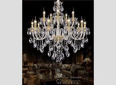European Gold Crystal Large Chandelier 15 Arm Luxury