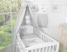 babybett mit himmel babybett himmel aus baumwolle little prince princess grau