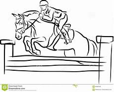 equestrian sport rider on in jumping show stock