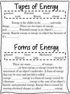 types of energy worksheet forms of energy notes worksheets and research project m