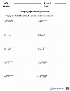 algebra worksheets radicals 8552 simplifying radical expressions worksheets radical expressions simplifying radical