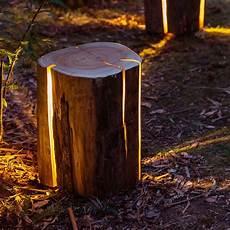 Cracked Log L Designerle Aus Holzstamm Cracked