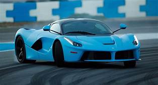 Two Baby Blue Ferrari LaFerraris Hit The Racetrack In