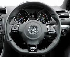 genuine vw 5k leather flat bottom multi function steering