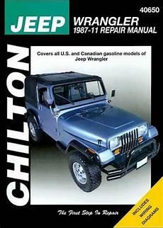 free online auto service manuals 2001 jeep wrangler windshield wipe control jeep wrangler yj chilton repair manual 1987 2011 hay40650