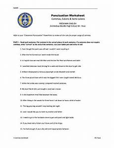 punctuation worksheets high school with answers 20785 punctuation fill in the blanks fill printable fillable blank pdffiller