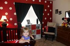big minnie mouse room color themed as opposed to