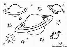 ausmalbilder planeten sterne malvorlagen