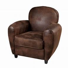 fauteuil club tissu marron contemporain l 85 x p 79