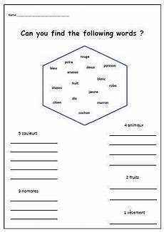 french language worksheet printable french words teaching resources printable kids