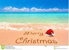 merry christmas wishes from the tropical image of ocean destination 106351710