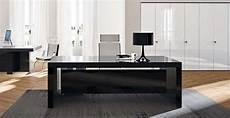bureau verre noir mobilier de direction bureau executive bk laqu 233 et verre