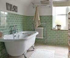 Green And White Tiles For Bathroom
