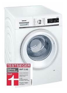 Waschmaschinen Testsieger 2018 Siemens Wm14w570 Waschmaschine Der Testsieger Bei Stiftung Warentest 10 2017