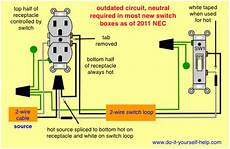 wiring diagrams for switched wall outlets do it yourself help com