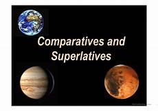 comparatives and superlatives planets worksheet free