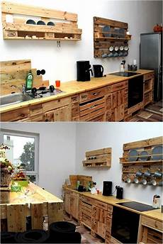 diy kitchen furniture 16 stunning diy pallet projects for your kitchen ideas