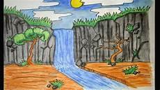 35 Terbaik Untuk Gambar Pemandangan Air Terjun Kartun