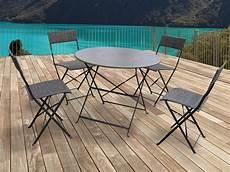 Salon De Jardin Chico M 233 Tal Taupe 1 Table Et 4 Chaises 54417