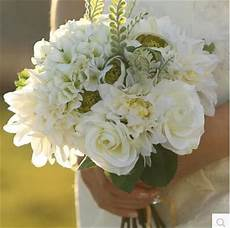 european countryside fresh style bridal bouquets artificial rose flowers bridesmaid bridegroom