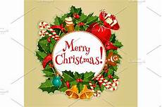 merry christmas round poster graphics creative market
