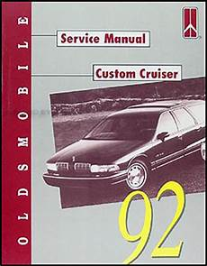 car manuals free online 1992 oldsmobile custom cruiser 1992 oldsmobile custom cruiser repair shop manual original