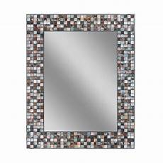 Bathroom Mirrors Mosaic by Deco Mirror 30 In L X 24 In W Earthtone Copper Bronze