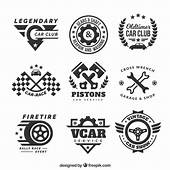 Decorative Logos With Car Elements Vector  Free Download