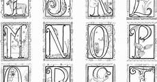 printable illuminated letters coloring pages 4