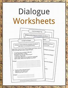 dialogue worksheets 18248 dialogue exles definition and worksheets kidskonnect
