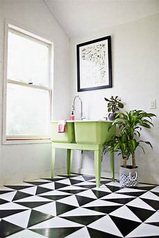Bathroom Linoleum Tiles by Make A Patterned Floor With Linoleum Tile A Beautiful Mess