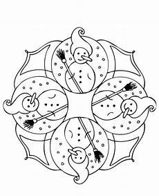 Mandala Malvorlagen Winter Malvorlagen Winter Zum Ausdrucken With Images Mandala