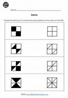 kindergarten math same and different worksheets by