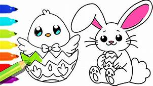 How To Draw And Color Easter Bunny Fun Colouring Pages