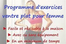 Programme D Exercices Ventre Plat Pour Femme Maigrir