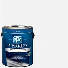ppg timeless 1 gal white satin exterior ready to use one
