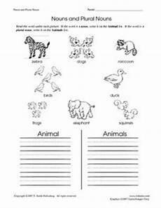 animal plural worksheets 14355 nouns and plural nouns animals worksheet for 2nd grade lesson planet