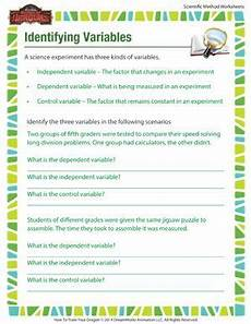 identifying variables the scientific method simplified science worksheets 5th grade science