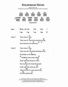 strawberry swing lyrics strawberry swing sheet by coldplay lyrics chords
