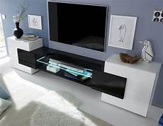 mobilier moderne design meuble tv moderne laqu 233 blanc et noir trivia 3 en 2019