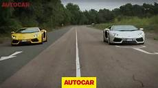 lamborghini aventador s roadster vs coupe lamborghini aventador roadster vs aventador coupe full length challenge video youtube