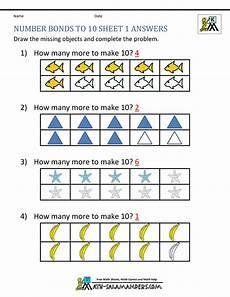 2nd grade math worksheet number bonds number bonds to 10 worksheets